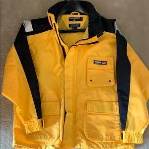 Boys Polo Sport hooded windbreaker- rain coat - M